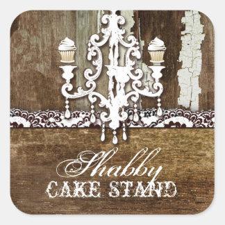 GCのぼろぼろのケーキの立場のシャンデリア スクエアシール