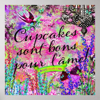 GCのカップケーキのsontの糖菓はl'âmeの壁掛けを注ぎます ポスター