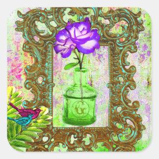 GC |の温室のシックな紫色のライム スクエアシール