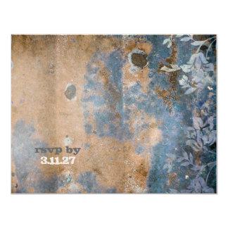 GC |魅惑的に素朴なRSVP |の金金属 カード