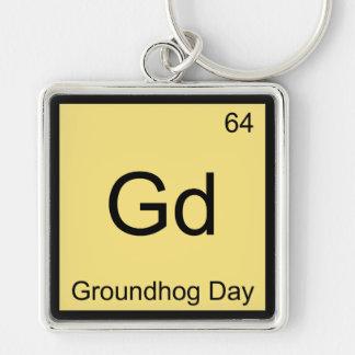 Gd -聖燭節化学要素の記号のティー キーホルダー