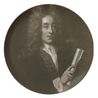 GEによって刻まれるヘンリー・パーセル(1659-95年)のポートレート プレート