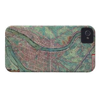 GEによる「Civitates Orbis Terrarum」からのライオンの地図、 Case-Mate iPhone 4 ケース