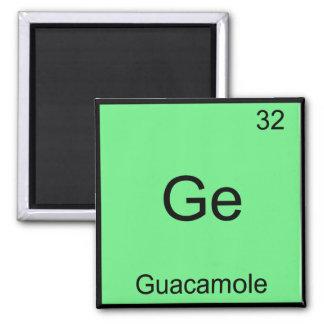 GE -グアカモーレおもしろいな化学要素の記号のティー マグネット