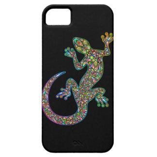 GeckのヤモリのサイケデリックなデザインのiPhone 5つのケース iPhone SE/5/5s ケース