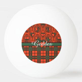 Geddesの一族の格子縞のスコットランドのキルトのタータンチェック 卓球ボール