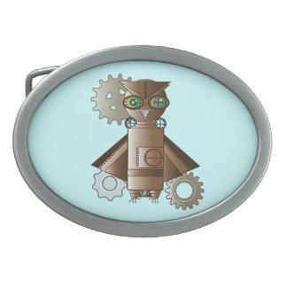 Geekery Steampunkのロボットフクロウのベルトの留め金 卵形バックル