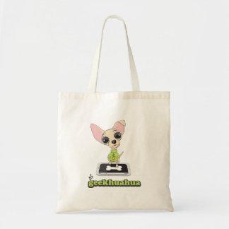 Geekhuahuaのかわいいオタク犬 トートバッグ