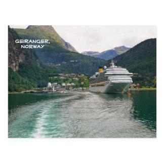 Geiranger、Geirangerfjord、ノルウェーの眺め ポストカード