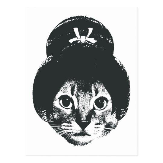 Geisha cat ポストカード