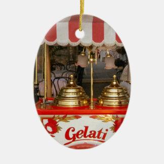 Gelatiのイタリアンなアイスクリーム セラミックオーナメント