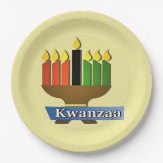 Gelukkig Kwanzaaのパーティーの紙皿 ペーパープレート