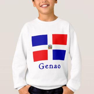 Genaoのドミニコ共和国人の旗 スウェットシャツ