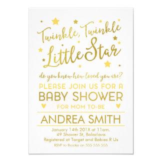 Gender neutral little star baby shower invitation カード