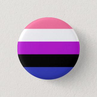 Genderfluidの旗ボタン 3.2cm 丸型バッジ