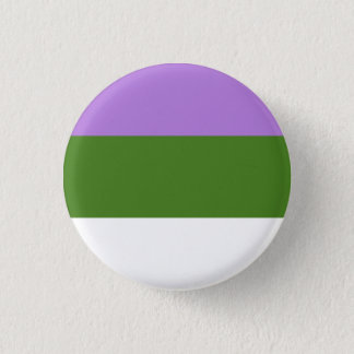 Genderqueerの旗ボタン 3.2cm 丸型バッジ