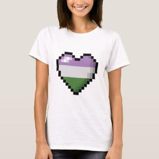 Genderqueerピクセルハート Tシャツ