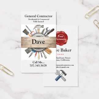 General Contractor Business Cards 名刺
