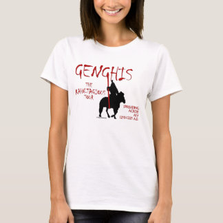 Genghis 「Kahn-tagious」旅行(女性のライト) Tシャツ