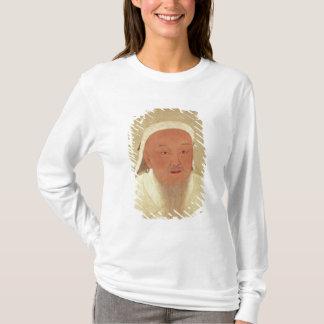 Genghis Khan、モンゴル語Khanのポートレート Tシャツ
