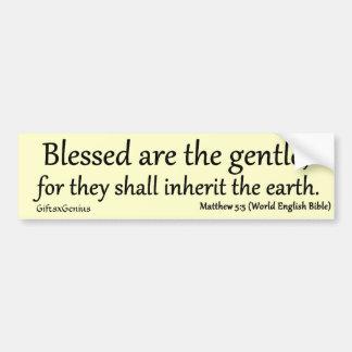 Gentlenessのために賛美されるMatthewの5:5 バンパーステッカー