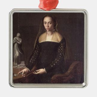 Gentlewomanのポートレート、1559年(パネルの油) メタルオーナメント