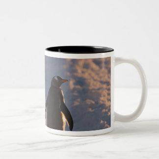 gentooのペンギンはaの間に残りのために休止します ツートーンマグカップ