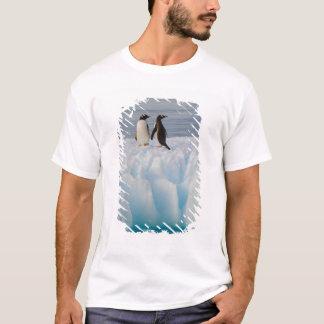 gentooのペンギン、氷氷のPygoscelisパプア、 Tシャツ