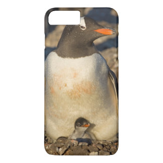 gentooのペンギン、生まれたばかりののPygoscelisパプア、 iPhone 8 Plus/7 Plusケース