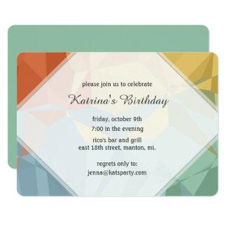 Geoのフラクタルの誕生日のパーティの招待状 12.7 X 17.8 インビテーションカード