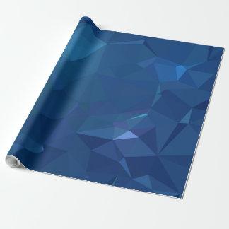 Geoの抽象的な及びはっきりしたデザイン-アオカケスの水晶 ラッピングペーパー