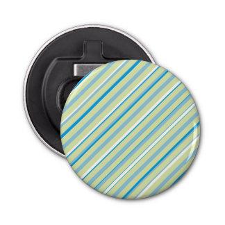 Geoの淡いブルーのストライプな円形のオープナ 栓抜き