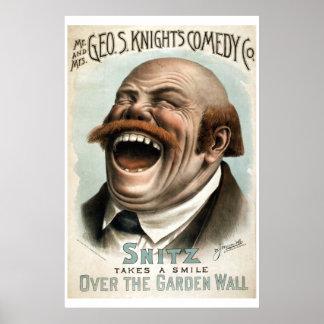Geo Hの白の喜劇Coのヴィンテージの劇場ポスター ポスター