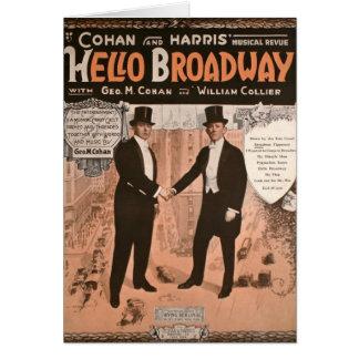 Geo。 M. Cohan Helloのブロードウェイ カード