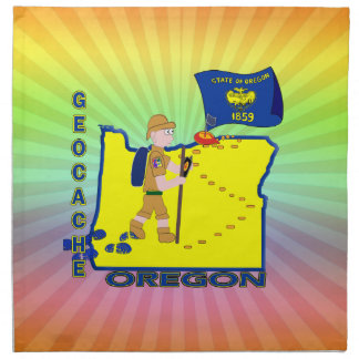 GEOCACHEの国家オレゴン ナプキンクロス