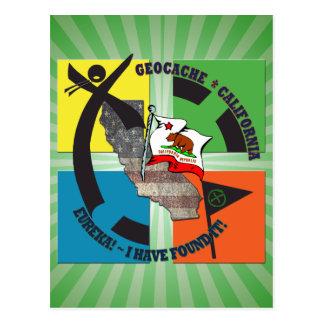 GEOCACHEカリフォルニアのモットーEUREKA ポストカード