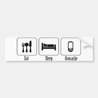 、Geocache食べて下さい、眠らせて下さい バンパーステッカー