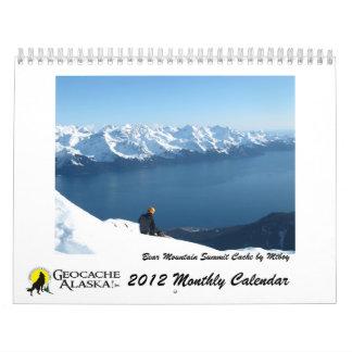 GeocacheAlaska 2012の月例カレンダー カレンダー