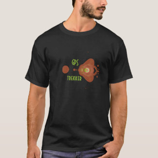 geocacherのためのGPSのtrekkerのワイシャツ Tシャツ