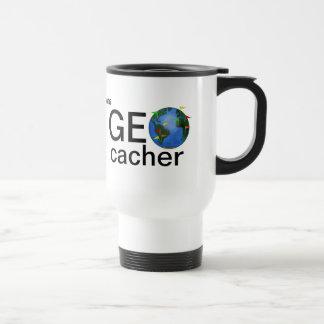 Geocacherの地球の名前入りなGeocachingの鋼鉄 トラベルマグ