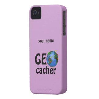 Geocacherの地球のGeocachingのカスタムのiphone 4ケース Case-Mate iPhone 4 ケース