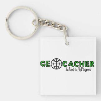 Geocacherは…世界私の運動場Keychainです キーホルダー