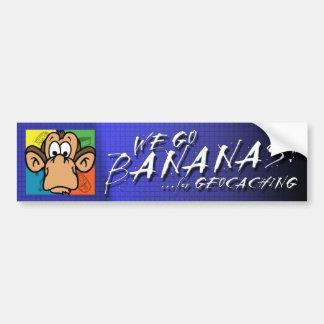 Geocachingのためのバナナ バンパーステッカー
