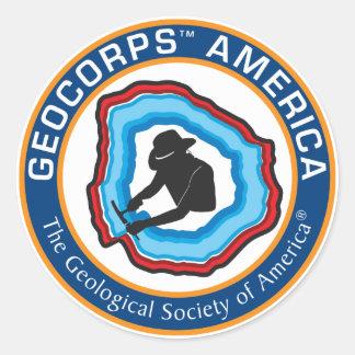 GeoCorpsアメリカの円形のステッカー ラウンドシール