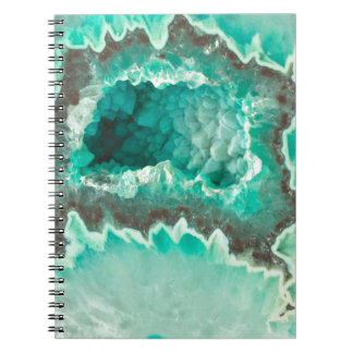 Geodeのハッカの香りがする水晶 ノートブック