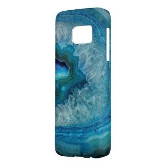 Geodeの上品でシックで青い水晶 Samsung Galaxy S7 ケース