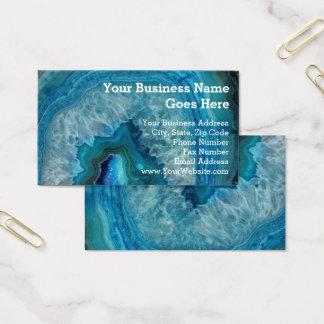 Geodeの青い石のミネラル瑪瑙の水晶のイメージ 名刺