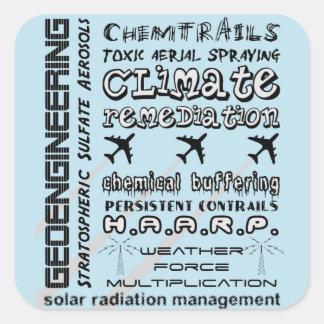Geoengineeringのchemtrailsの有毒物質のエーロゾル スクエアシール