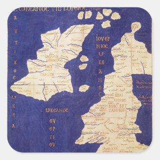 「Geographiaからのイギリス諸島の地図、 スクエアシール