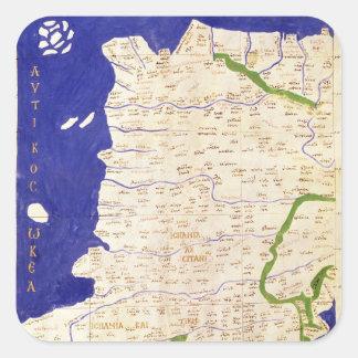 「Geographiaからのスペインそしてポルトガルの地図、 スクエアシール